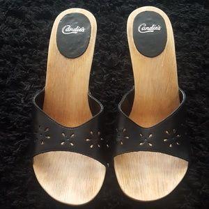 80's Vintage Candie's Mule Heels Sz 9